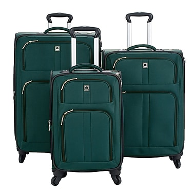 Delsey® Amherst 3-Piece Expandable Spinner Trolley Luggage Sets, Green