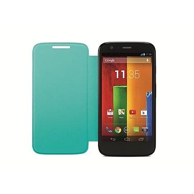 Motorola – Étui rigide à rabat pour Moto G 2e génération, turquoise