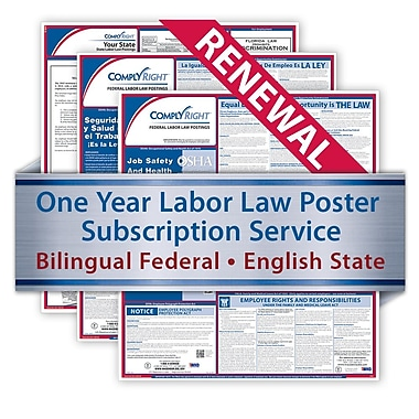 ComplyRight Renewal Bilingual Federal and English State Posters, Puerto Rico