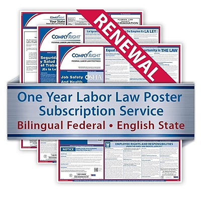ComplyRight Renewal Bilingual Federal and English State Posters, Alaska