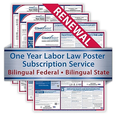 ComplyRight Renewal Bilingual Federal and Bilingual State Posters, California