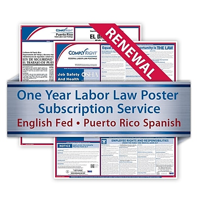 ComplyRight Renewal Federal and State Posters Spanish, Puerto Rico