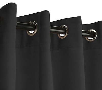 RoomDividersNow 8' x 15' Fabric Room Divider Curtain, Black