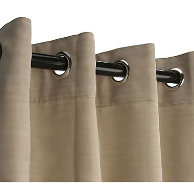 RoomDividersNow Small Tension Rod Room Divider Kit, Wheat