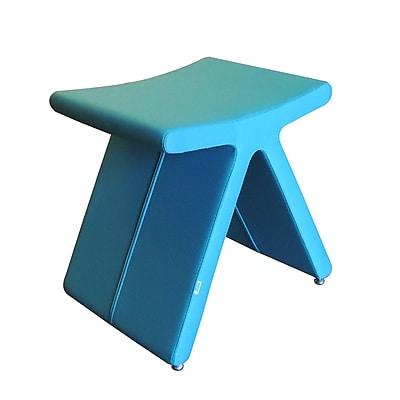 B&T Design PI Cat A Oslo Fabric Stool; Turquoise