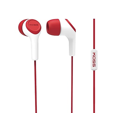 Koss Keb15iir Earbud With Microphone, Red