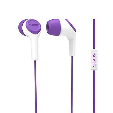 Koss Keb15iip Earbud With Microphone, Purple