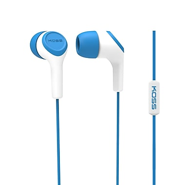 Koss Keb15iib Earbud With Microphone, Blue