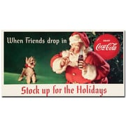 """Trademark Coke Vintage Ad """"Stock up for the Holidays"""" Gallery-Wrapped Canvas Art, 13"""" x 24"""""""