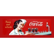 "Trademark Coke Vintage Ad ""Waitress"" Gallery-Wrapped Canvas Art, 12"" x 36"""