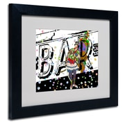 "Trademark Miguel Paredes ""Bar Warrior"" Art, White Matte With Black Frame, 11"" x 14"""