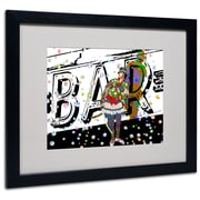"Trademark Miguel Paredes ""Bar Warrior"" Art, White Matte With Black Frame, 16"" x 20"""