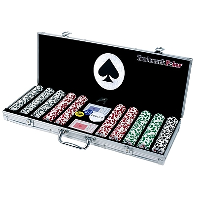 Trademark Poker 11.5g 4 Aces 500 Chips Poker Set With Aluminum Case 1451185