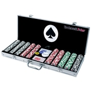Trademark Poker™ 11.5g 4 Aces 500 Chips Poker Set With Aluminum Case