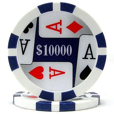 Trademark Poker™ 11.5g 4 Aces Premium $10000 Poker Chips, Purple, 100/Set