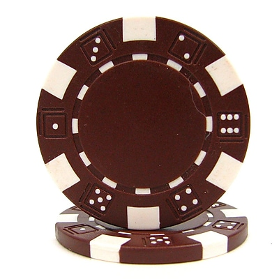 Trademark Poker™ 11.5g Dice Style Poker Chips, Brown, 50/Set