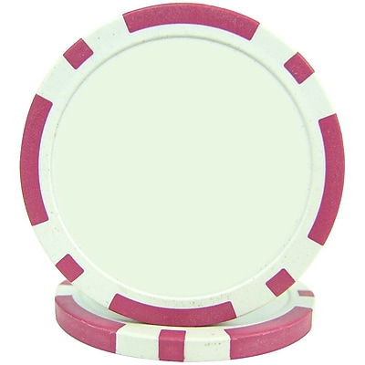 Trademark Poker™ 11.5g Classic Eight Stripe Dual Color Poker Chips, Pink, 100/Set