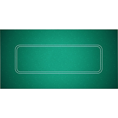 """""Trademark Poker 72"""""""" x 36"""""""" Texas Hold 'em Felt Layout, Green"""""" 1449347"