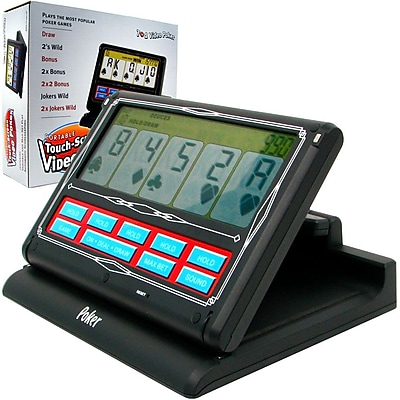 Portable Video Poker Touch-Screen 7 in 1, Black & White