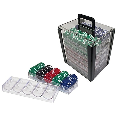 Trademark Poker™ 1000 Chips Capacity Poker Chip Carrier With Trays, Clear