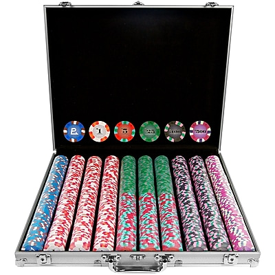 Trademark NexGen 9g Pro Classic Style 1000 Chips Poker Set With Aluminum Case 1449420