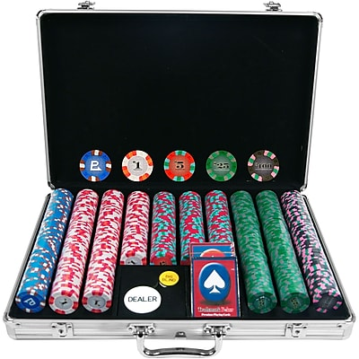 Trademark NexGen™ 9g Pro Classic Style 650 Chips Poker Set With Aluminum Case