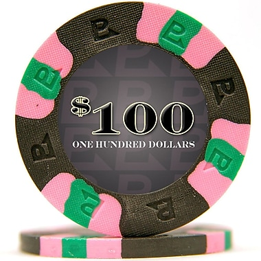 Trademark NexGen™ 9g Pro Classic Style $100 Poker Chips, Black, 50/Set