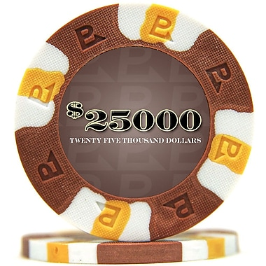 Trademark NexGen™ 9g Pro Classic Style $25000 Poker Chips, Brown, 50/Set