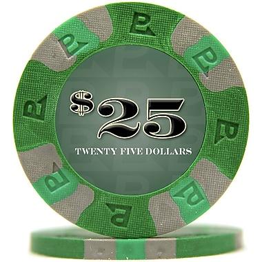 Trademark NexGen™ 9g Pro Classic Style $25 Poker Chips, Green, 50/Set