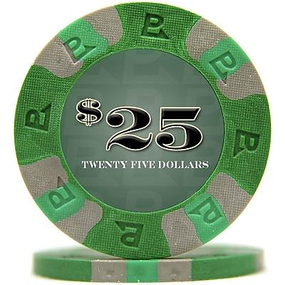 Trademark NexGen™ 9g Pro Classic Style $25 Poker Chips, Green, 100/Set