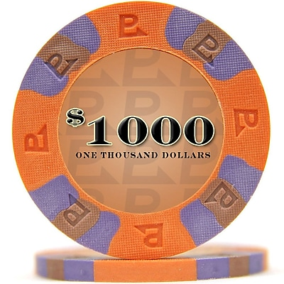 Trademark NexGen 9g Pro Classic Style $1000 Poker Chips, Orange, 50/Set 1449897