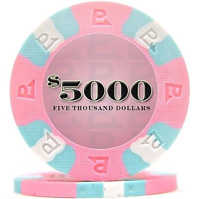 Trademark NexGen 9g Pro Classic Style $5000 Poker Chips, Pink, 100/Set 1451206