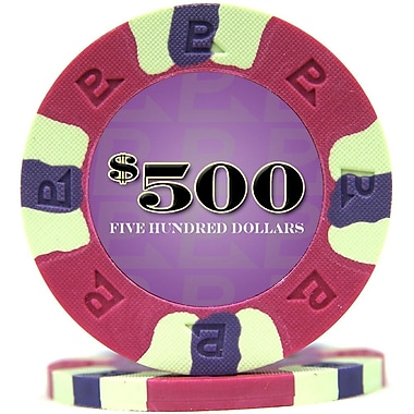 Trademark NexGen™ 9g Pro Classic Style $500 Poker Chips, Purple, 50/Set