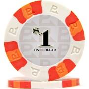 Trademark NexGen™ 9g Pro Classic Style $1 Poker Chips, White, 100/Set