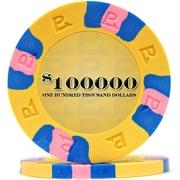 Trademark NexGen™ 9g Pro Classic Style $100000 Poker Chips, Yellow, 100/Set