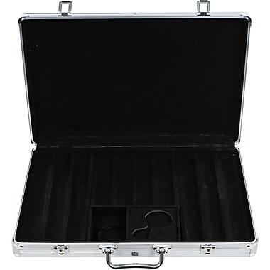 Trademark Poker™ 650 Chips Aluminum Poker Chip Case, Black