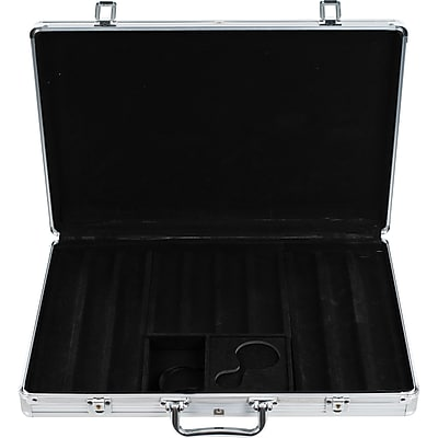 Trademark Poker™ 650 Chips Aluminum Poker Chip Case, Black