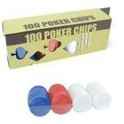 "Trademark Games™ 6.5"" Radial Chips, 100/Set"