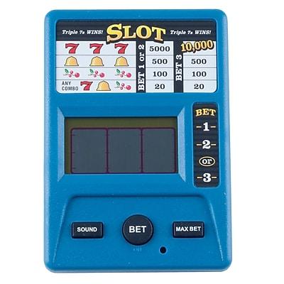 Trademark Games™ Electronic Handheld Slot Machine Game, Blue