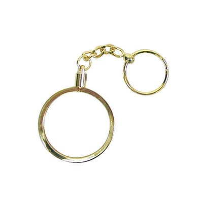 Trademark Poker™ Brass Key Ring Chip Holder