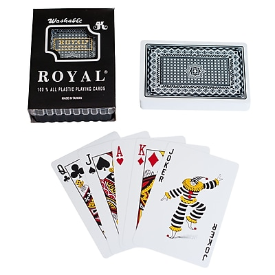 Trademark Poker™ One Deck 100% Royal Plastic Playing Cards With Star Pattern, Blue