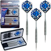 Trademark Games™ Pro Style Machined Grooved Tungsten Dart Set