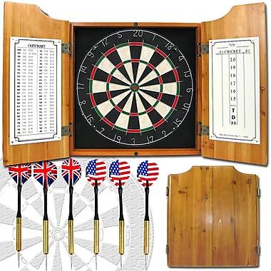 Trademark Games™ Pro Style Board/Darts Solid Wood Dart Cabinet Set