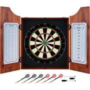 Trademark Games™ Pro Style Board/Darts Beveled Wood Dart Cabinet Set