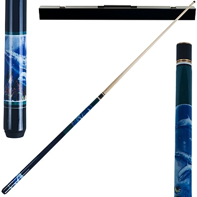 Trademark Games™ 2 Piece Pool Cue Stick With Case, Dolphin
