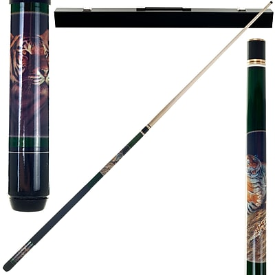 Trademark Games™ 2 Piece Pool Cue Stick With Case, Bengal Tiger