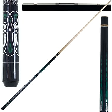 Trademark Games™ 2 Piece Designer Pool Cue Stick With Case, Emerald Green Laser
