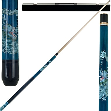 Trademark Games™ 2 Piece Pool Cue Stick With Case, Blue Dragon