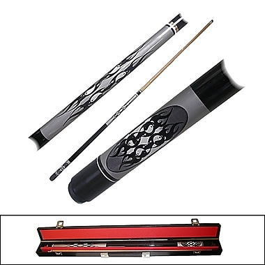 Trademark Games™ 2 Piece Designer Pool Cue Stick With Case, Ying Yang