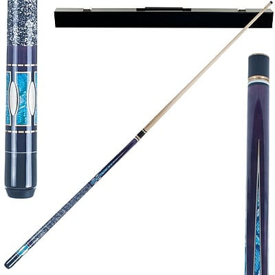 Trademark Games™ 2 Piece Designer Pool Cue Stick With Case, Purple Matrix